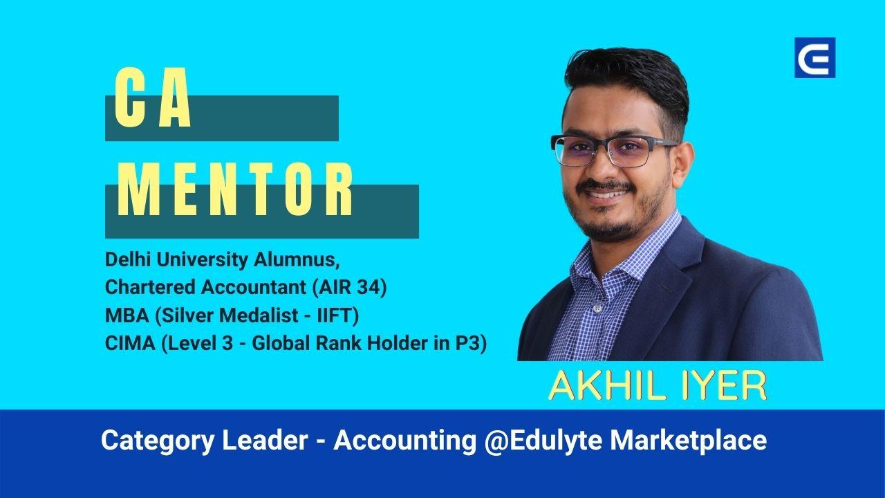 Akhil CA Category Leader at Edulyte